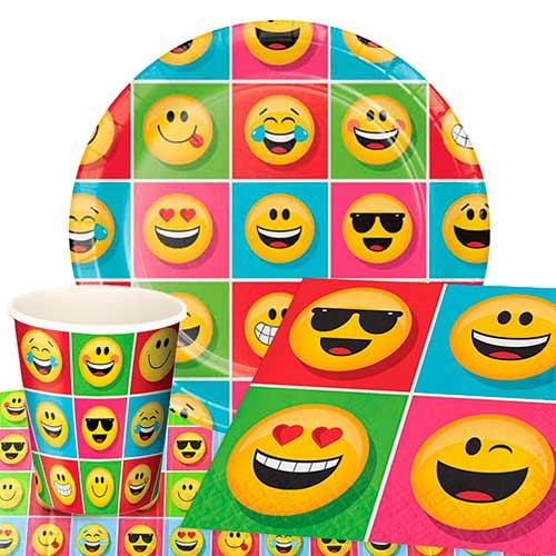 Paquete De Fiesta Emoji Valor 8 Personas