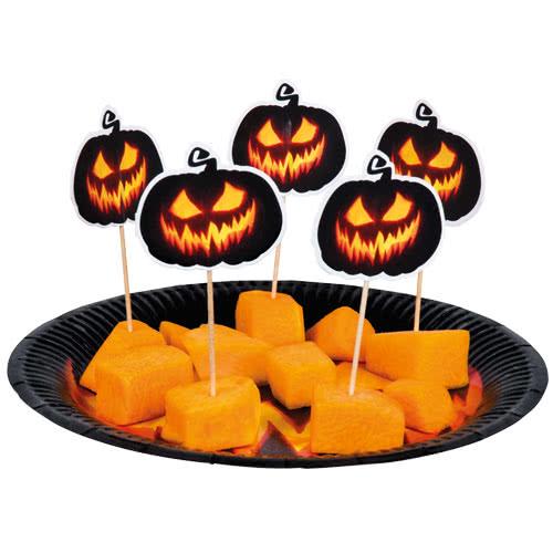 Copas De Cóctel De Papel Espeluznante De Calabaza De Halloween 12 Cm - Paquete De 12