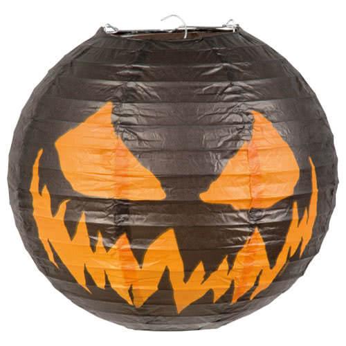 Linterna De Papel De Calabaza Espeluznante De Halloween Con Marco De Alambre 25Cm