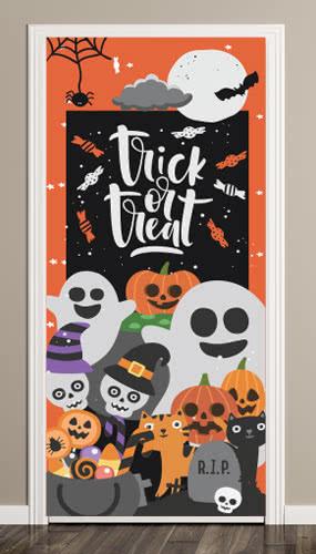 Truco O Trato Halloween Puerta Cubierta PVC Fiesta Sign Decoración 66cm x 152cm