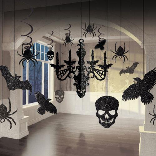 Kit De Decoración De Araña De Brillo De Halloween