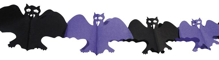 Decoración De Garland De Papel De Murciélago De Halloween