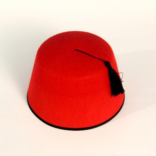 Sombrero De Fieltro Rojo Con Borla