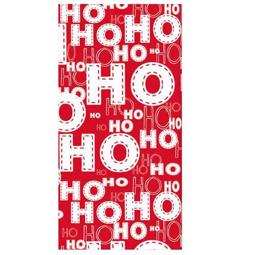Papel de seda de Navidad Ho Ho Ho - Paquete de 10
