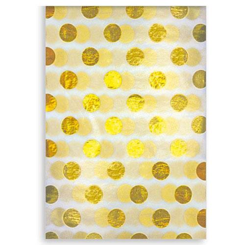 Papel de seda nacarado Golden Foil Dots - Paquete de 3