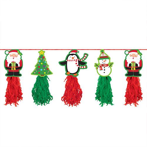 Guirnalda De Papel De Vacaciones De Navidad Colgando Decoración 243Cm