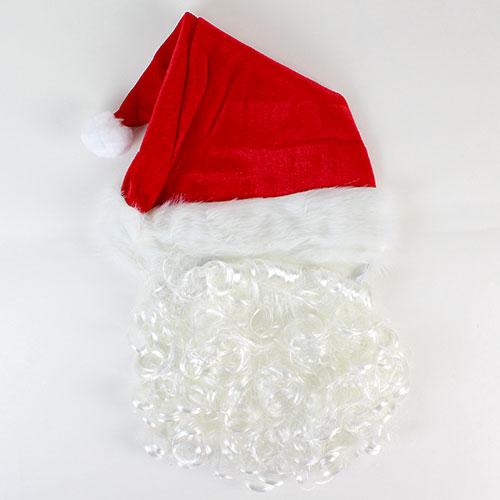 Navidad Santa sombrero con barba