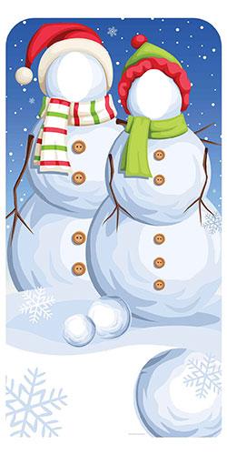 Los Muñecos De Nieve De Navidad Se Destacan En El Recorte De Cartulina Lifesize 186cm