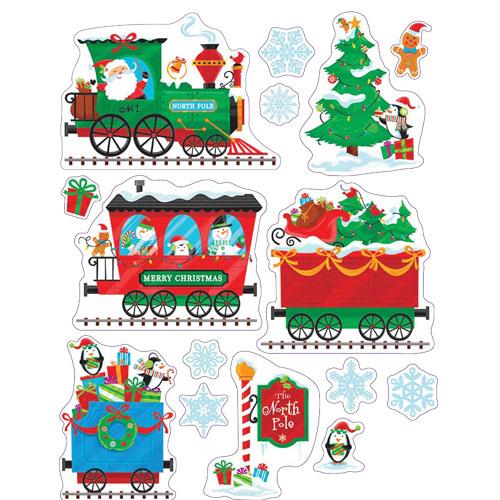 Trenes De Navidad Con Regalos Decoraciones De Ventana Se Aferra A 43Cm