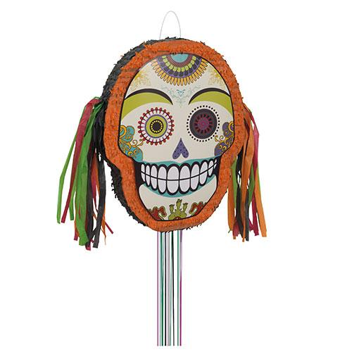 Día De Halloween De Los Muertos Forma Tirar Cuerda De Piñata