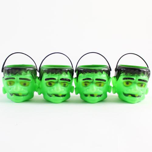 Frankenstein De Halloween De Convite Macetas De Plástico - Paquete De 4