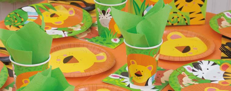 Suministros de fiesta de animales de la selva Top Image