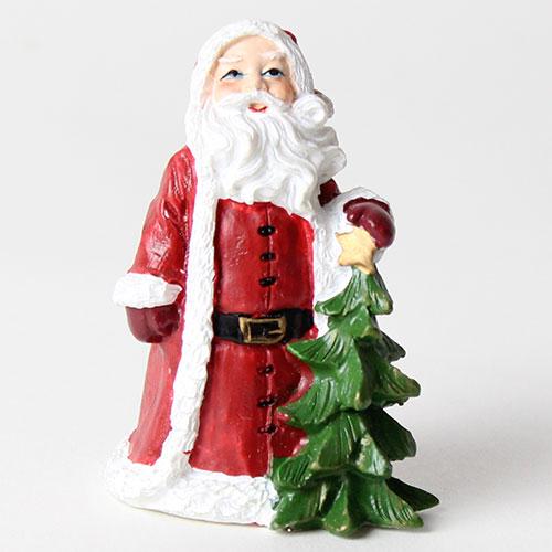 Santa Con La Decoración De La Torta De La Resina De La Navidad Del Árbol Los 6Cm