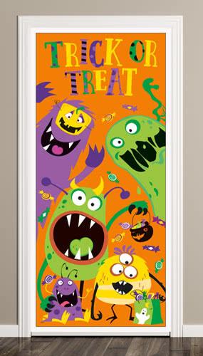 Tonto Halloween Monstruos Truco O El Convite Puerta Impresiones 152Cm