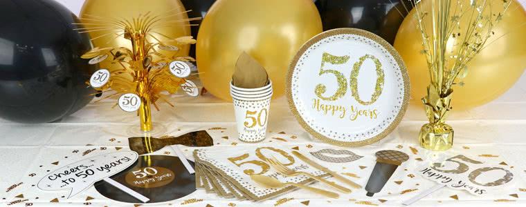 Fuentes chispeantes de la fiesta de aniversario de oro Top Image