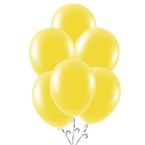 Globos Amarillos De Látex 23Cm / 9 Pulgadas - Paquete De 30
