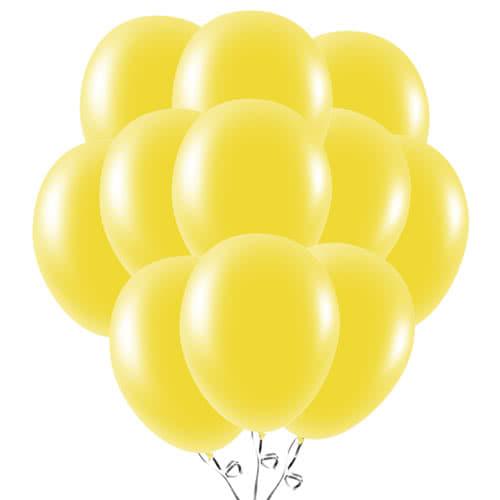 Globos De Látex Amarillo 23Cm / 9 Pulgadas - Paquete De 50
