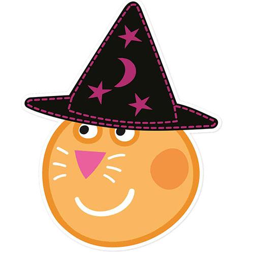 Caramelo Gato Peppa Cerdo Halloween Cartulina Mascarilla