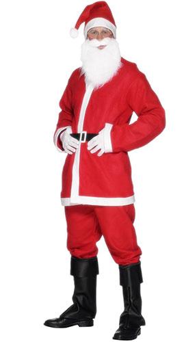 Disfraz De Santa De Economía Para Hombre Navidad Disfraz - Medio