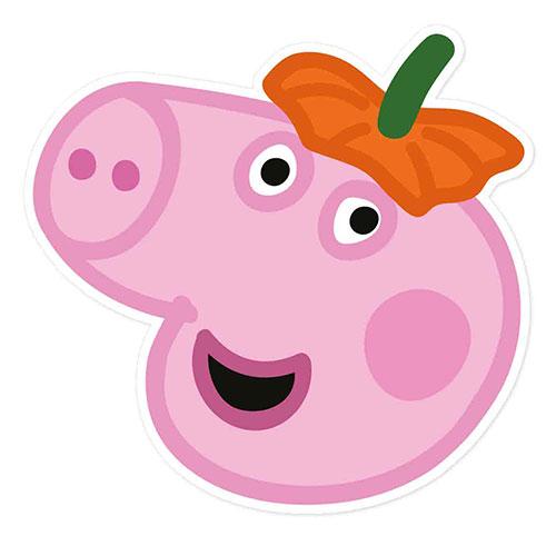 George Pig Peppa Pig Halloween Cartulina Mascarilla