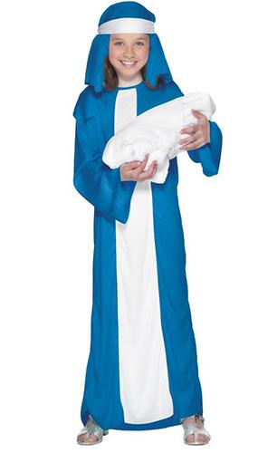 Disfraz De Mary Para Niñas De 4 A 6 Años. Niños Disfrazados De Navidad. Pequeño