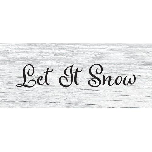 Deja Que Nieve Efecto Madera Fiesta De Pvc De Navidad Decoración 60 Cm X 25 Cm