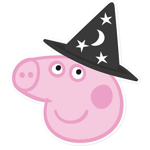 Mascarilla Peppa Cerdo Halloween Carton