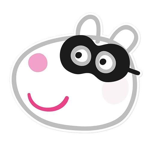 Suzie Sheep Peppa Pig Halloween Cartulina Mascarilla