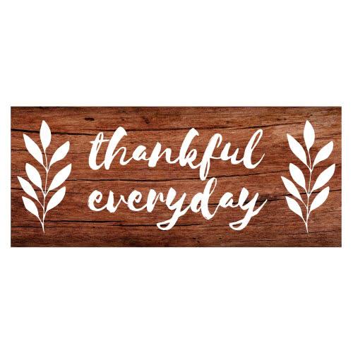 Agradecido Todos Los Días Día De Acción De Gracias Efecto De Madera Fiesta De Pvc Decoración De La Muestra 60 Cm X 25 Cm