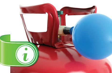 Instrucciones y cuidado del gas de helio