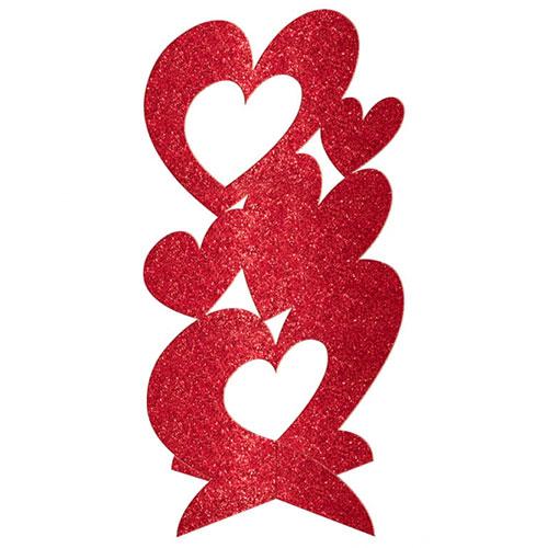 Brillo De San Valentín Corazones 3D De Centro De Mesa Decoración De Mesa 29Cm