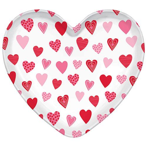 Bandeja De Plástico En Forma De Corazón De San Valentín 39Cm
