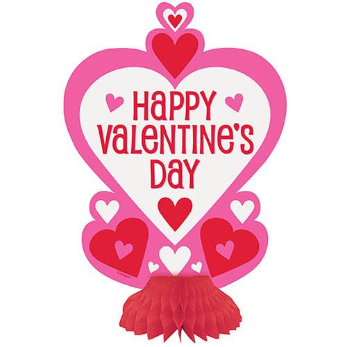 Decoraciones De Mesa De Centro De Panal De Corazones De San Valentín 20 Cm - Paquete De 3