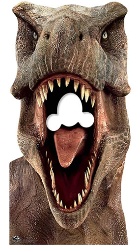 Tirador De Dinosaurio Tiranosaurio Rex T-Rex En Tamaño Natural, Con Un Recuerdo De Cartón De 188 Cm