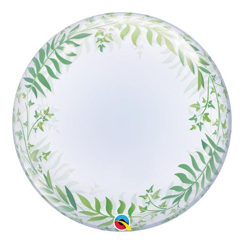 Elegante Vegetación Deco Burbuja Globo De Helio Qualatex 61 Cm / 24 Pulgadas