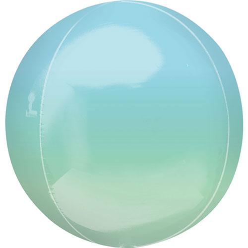 Ombre Azul Y Verde Orbz Foil Globo De 38 Cm / 15 Pulgadas