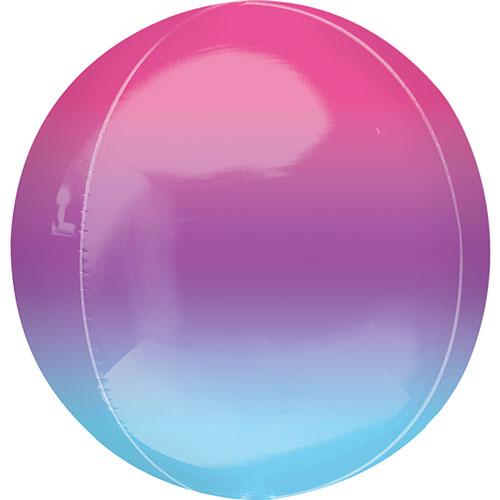 Globo De Helio De Color Azul Y Púrpura De 38 Cm / 15 Pulgadas