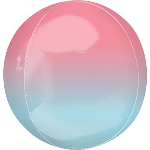 Ombre Rojo Y Azul Orbz Foil Globo De 38 Cm / 15 Pulgadas