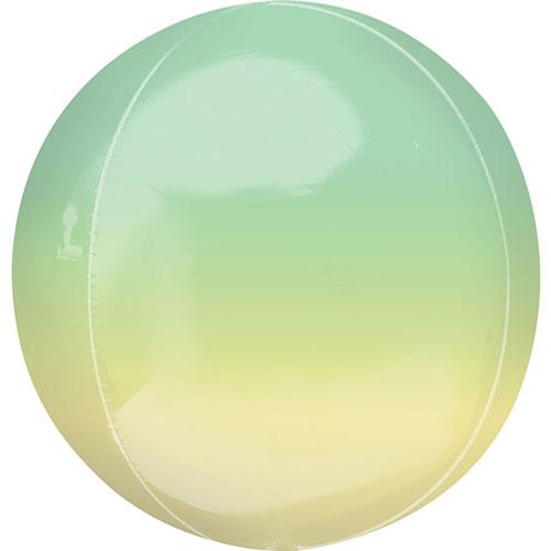 Ombre Amarillo Y Verde Orbz Foil Globo De Helio 38 Cm / 15 Pulgadas