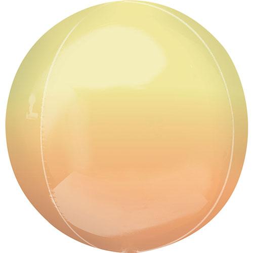 Ombre Amarillo Y Naranja Orbz Papel De Aluminio Globo De Helio 38 Cm / 15 Pulgadas