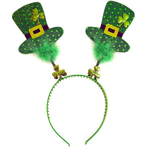 Cabeza De Día De San Patricio Bopper Con Mini Sombreros Irlandeses