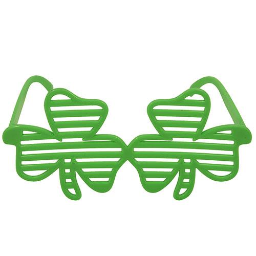 San Patricio Día Trébol Obturador Gafas De Plástico