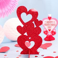 Decoraciones de mesa del día de San Valentín