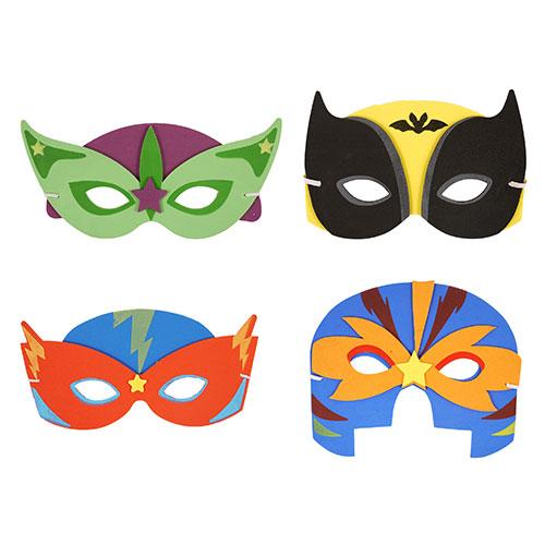 Máscaras De Espuma De Superhéroes Surtidos - Paquete De 4