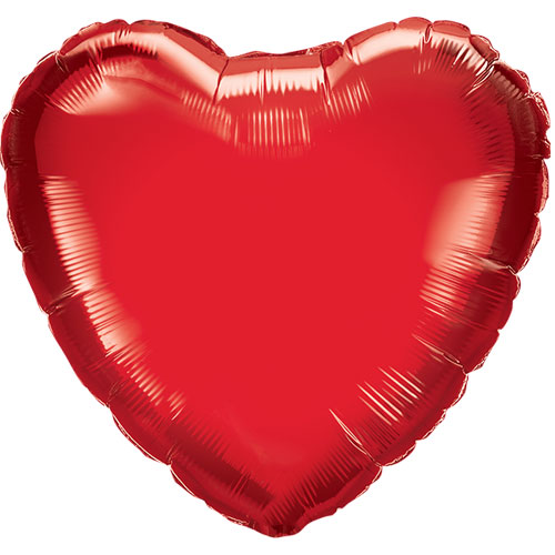 Corazón Rojo Forma Aire Llenar Florete Qualatex Globo 23Cm