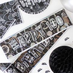 Banners de fiesta de cumpleaños 100