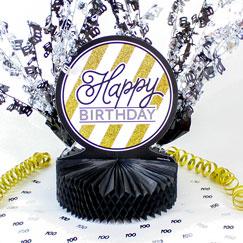 Decoraciones de la mesa 100 cumpleaños
