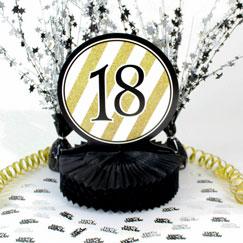 Decoraciones de mesa de cumpleaños 18