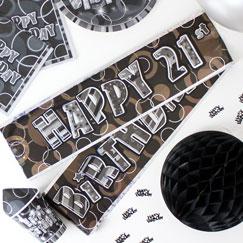 21ra fiesta de cumpleaños Banners
