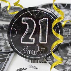 21 ° accesorios de la fiesta de cumpleaños